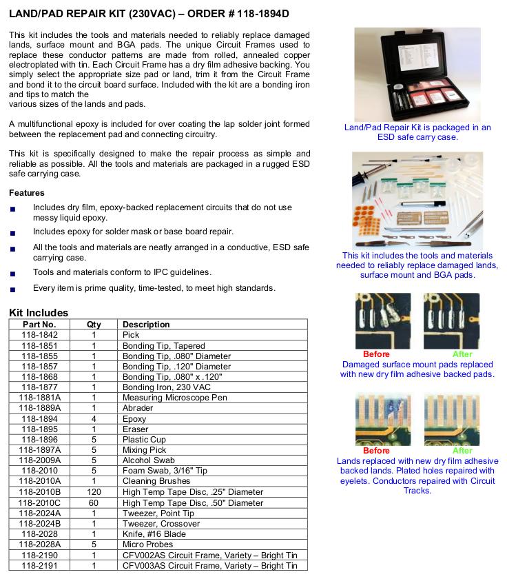 Land & Pad Repair Kit – SMOOTH N SLEEK SDN  BHD